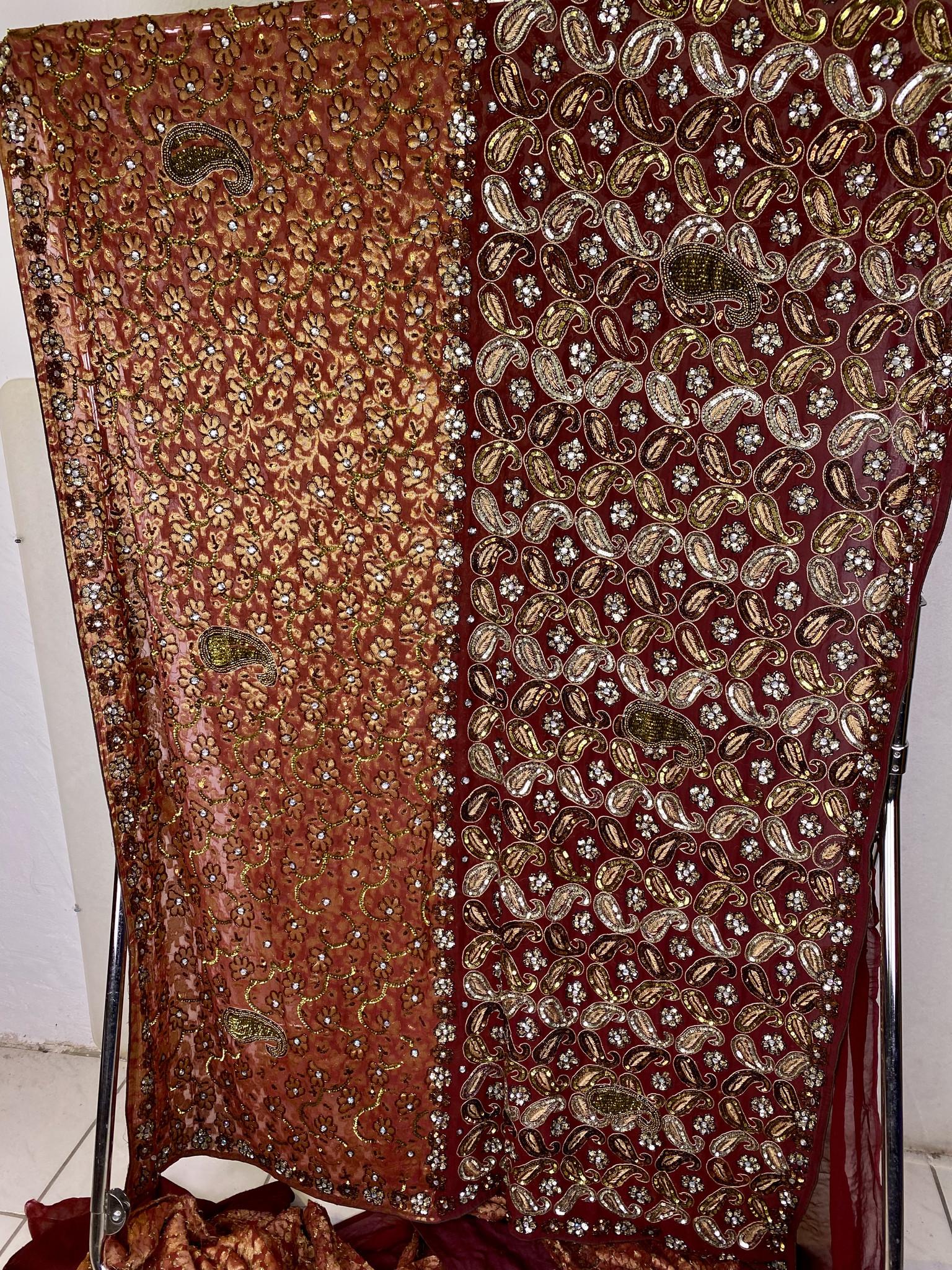 Heavy vintage Embroidery Work Saree