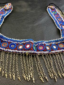 Tribal Gürtel mit Metallfransen