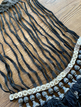 Uzbek head adornment with tassels