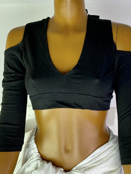Tribal Top, split shoulders, 3/4 Arms