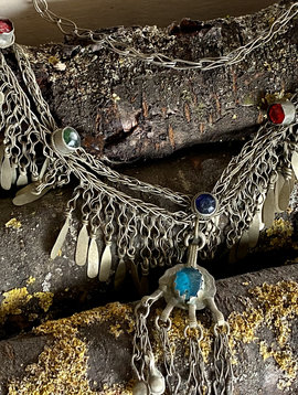 Tribal Necklace / metal fringe