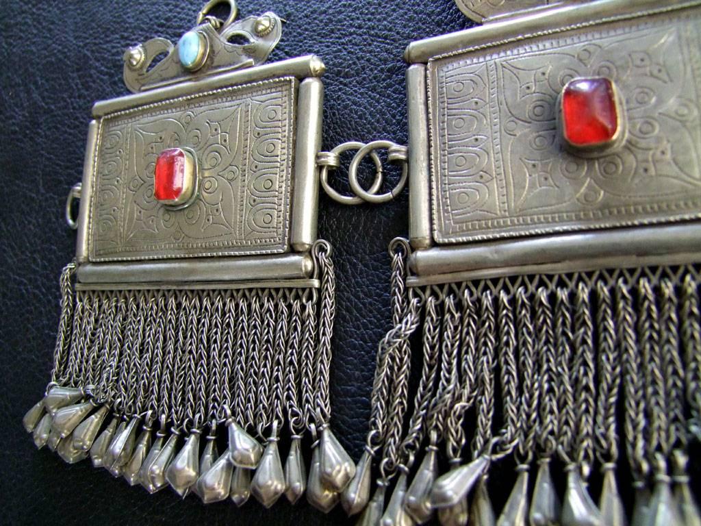 Tribal Pendants, pair