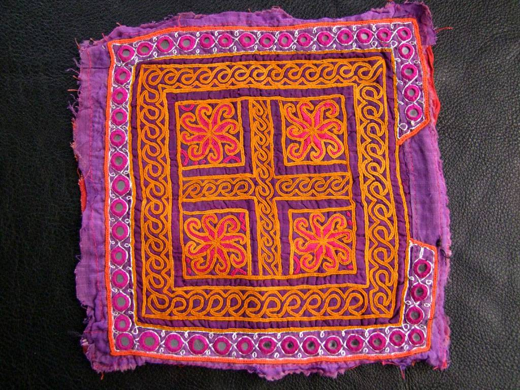 Kuchi Mirror patch/ embroidery