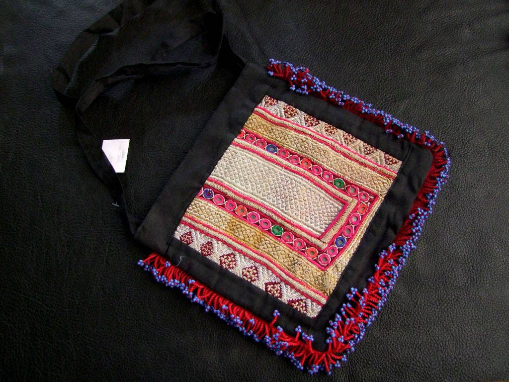 Bag with Mirror patch/ embroidery