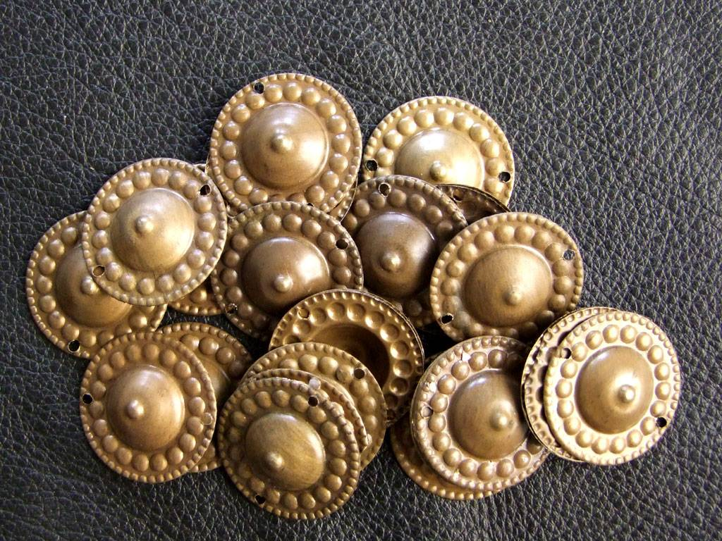 Neue Gillets, gold/ bronze  Ton