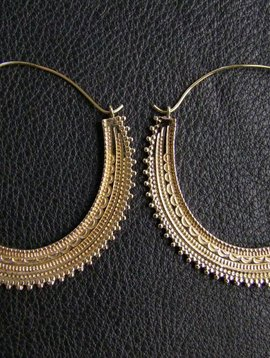 Brass Earrings *Afghan hoops*