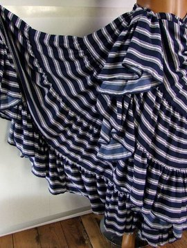 25 yards Blue & White stripes skirt deluxe