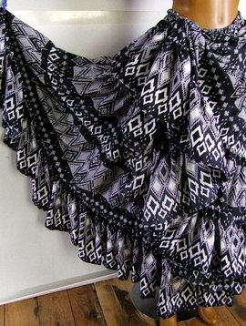25 yards Ikat style skirt deluxe