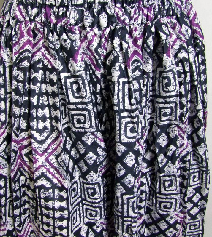 Pantaloon/ harem pants Ikat print