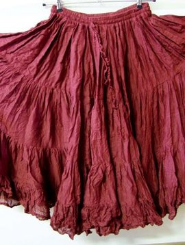 Tribalskirt 24 yards burgundy