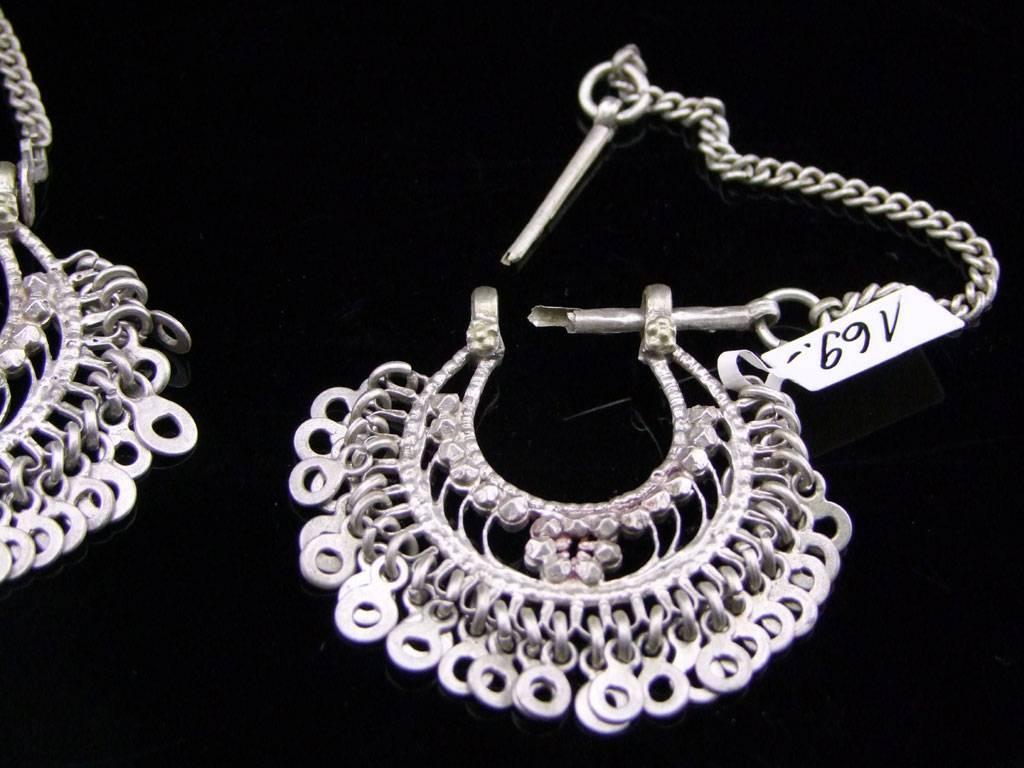 Alte ind. Silber Ohrringe