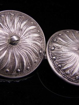 Old Silver Earrings/ Tunnels/ Plugs from India