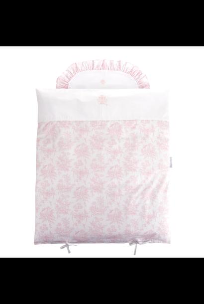 Donsovertrek wieg + sloop Sweet Pink