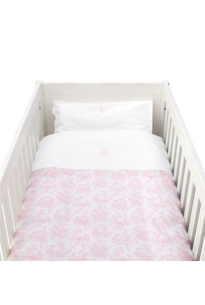 Donsovertrek bed met sloop  Sweet Pink