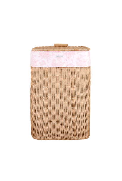 Natural wicker basket Sweet Pink  Theophile & Patachou