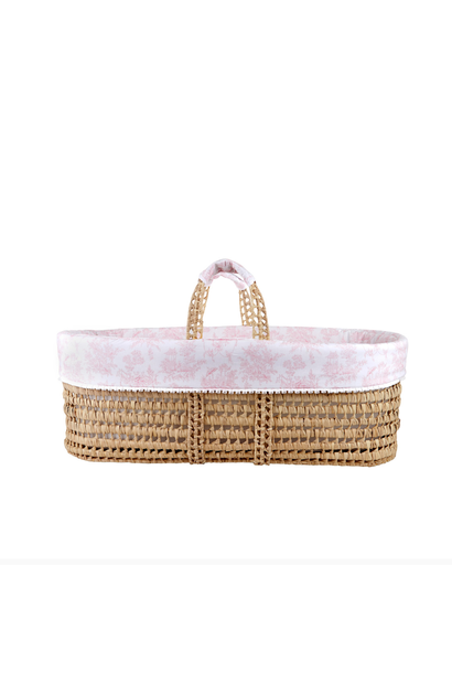 Wicker moises and cover Sweet Pink