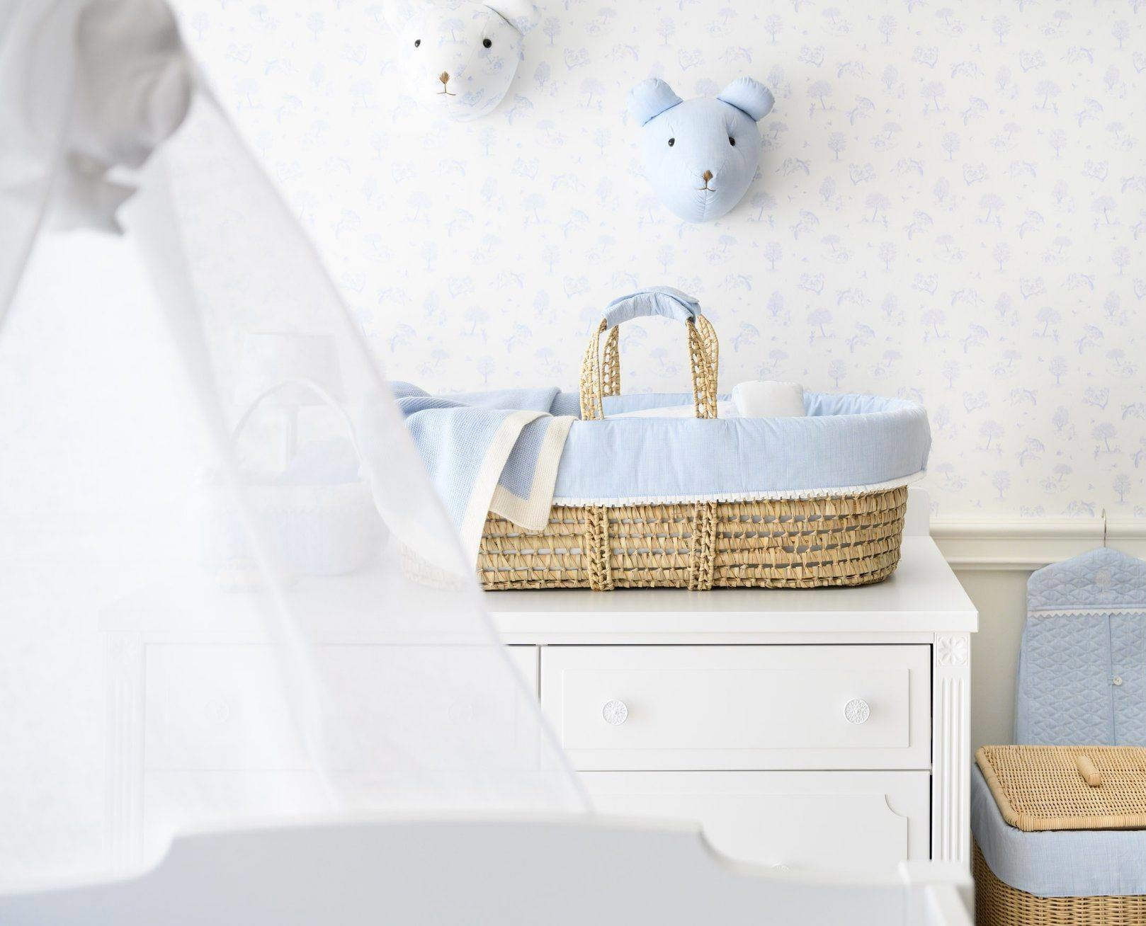 Grote  rieten mand Sweet Blue Theophile & Patachou-2
