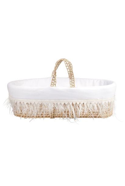 Wicker moises and cover Royal White