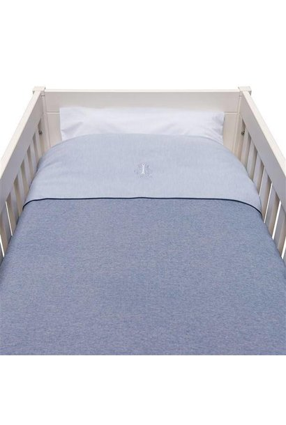 Donsovertrek bed met sloop Blue Jeans