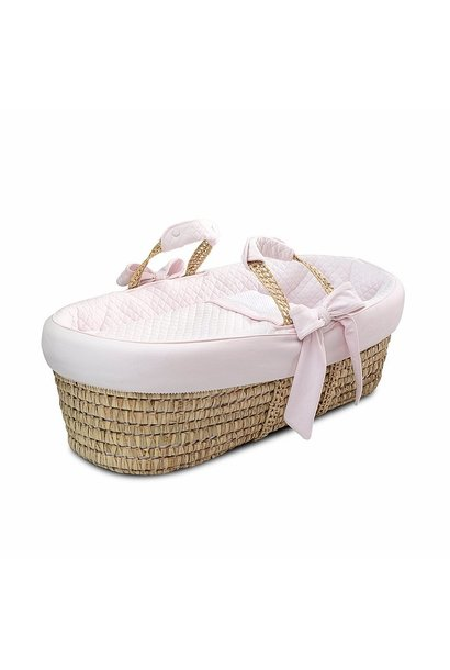 Wicker moises and cover Pretty pink