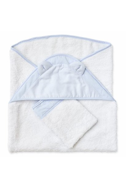 Hooded towel + washcloth First