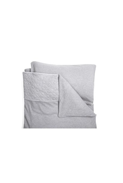 Quilt cover and pillowcase Poetree Star Grey Melange