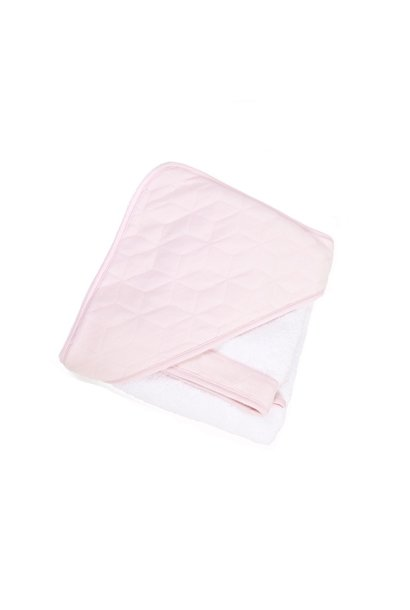 Hooded towel + washcloth Poetree Star Soft Pink Collection