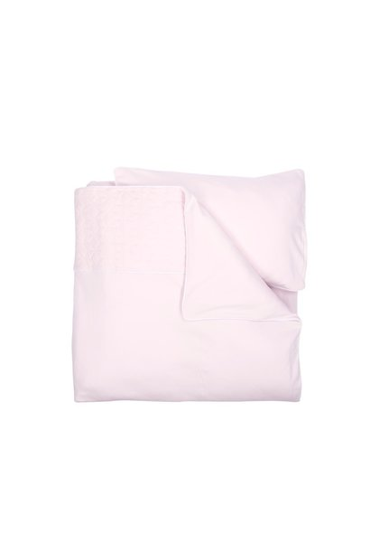 Quilt cover and pillowcase Poetree Star Soft Pink Collection