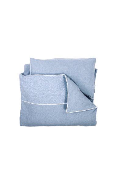 Daunendeckenbezug mit Kissenbezug Poetree Chevron Denim Blue Collection
