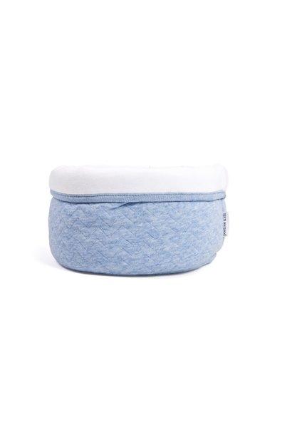 Offener Toilettenkorb Poetree Chevron Denim Blue