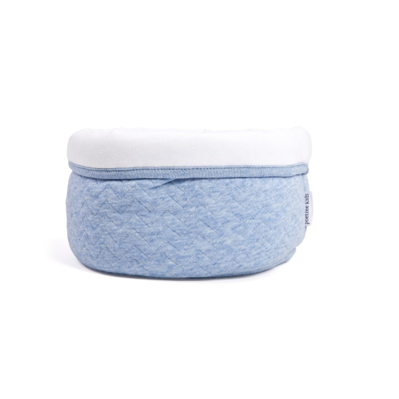 Open toiletmand Poetree Chevron Denim Blue-1