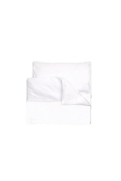 Daunendeckenbezug mit Kissenbezug Poetree Chevron White Collection