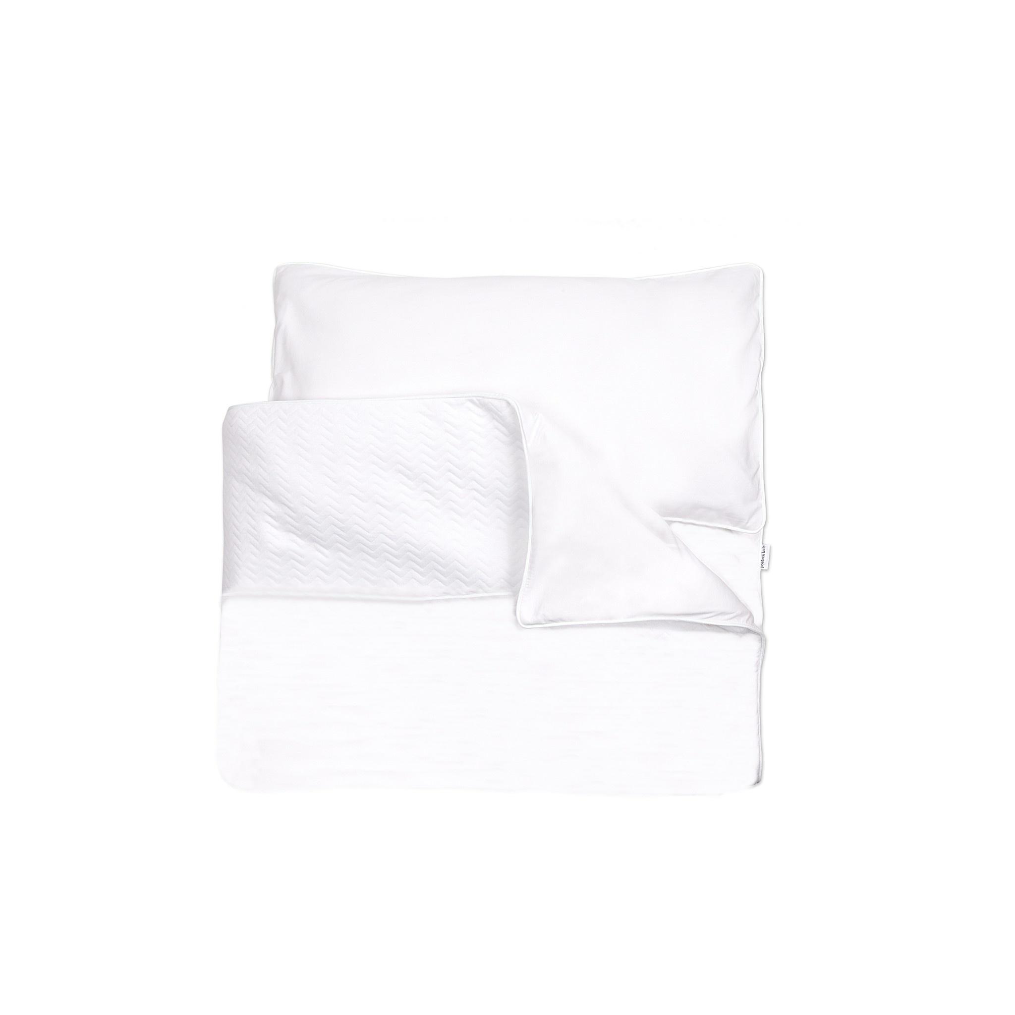 Donsovertrek bed met sloop Poetree Chevron White Collection-1