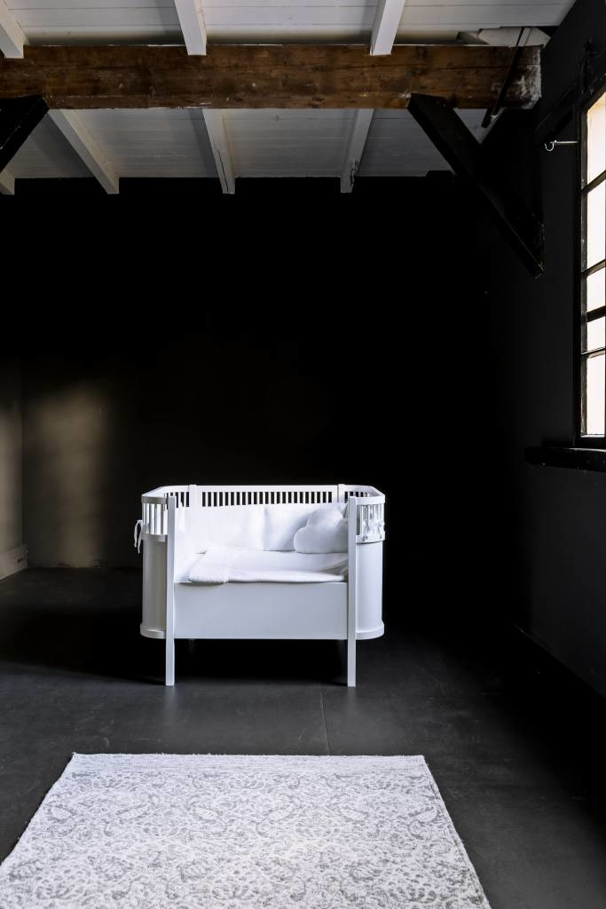 Donsovertrek bed met sloop Poetree Chevron White Collection-2