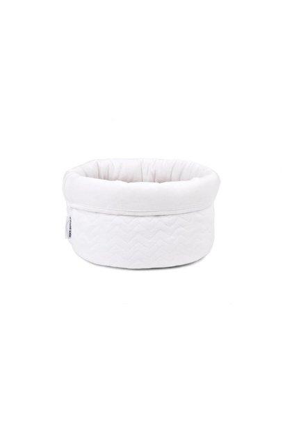 Care basket Poetree Chevron White Collection