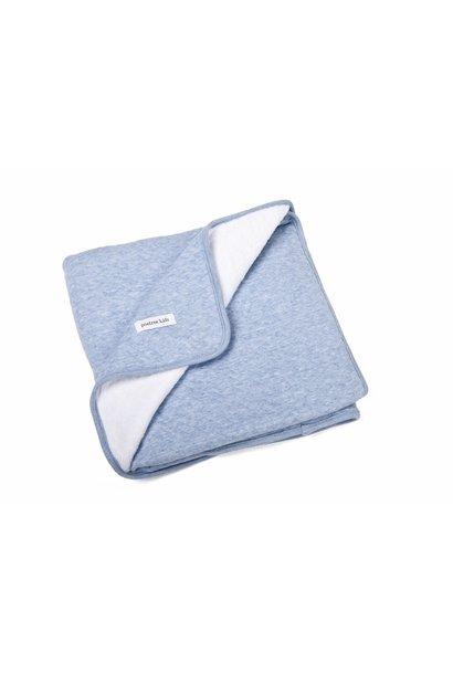 Decke 100x135cm Poetree Chevron Denim Blue