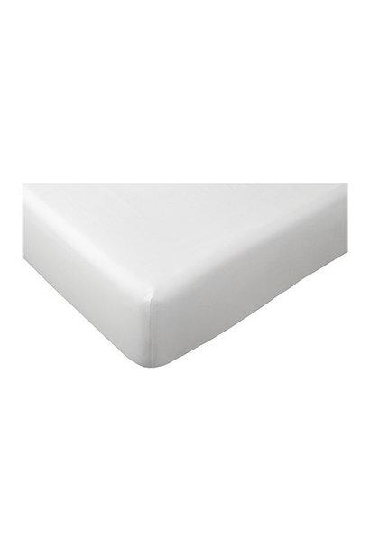 Spannbetttuch 60x120cm  Poetree Baumwollsatin Weiß
