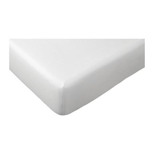 Hoeslaken 60x120cm Poetree Katoensatijn wit-1