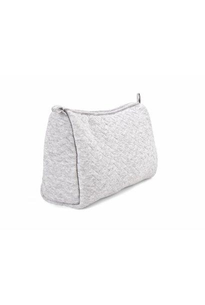 Toilet bag Poetree Chevron Light Grey Melange