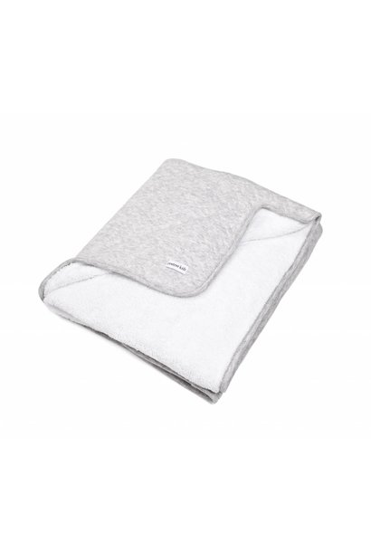 Blanket 80x100cm Poetree Chevron Light Grey Melange