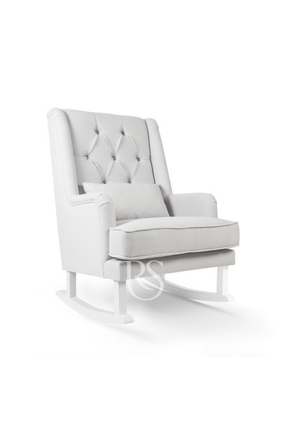 Schommelstoel Royal Rocker Grey / wit