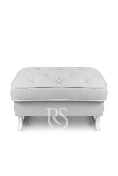Royal Rocker Fußschemel Grau / Weiß