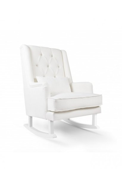 Schommelstoel Royal Rocker Wit / Wit