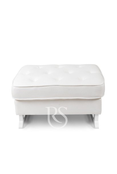 Royal Fußschemel Rocking Seats weiß / weiß