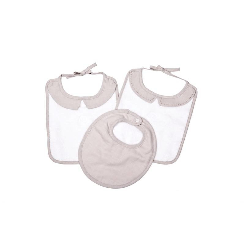 3 Slabbetjes  Poetree Oxford Taupe Collection-1