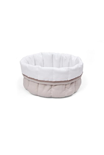 Care basket Poetree Oxford Taupe Collection