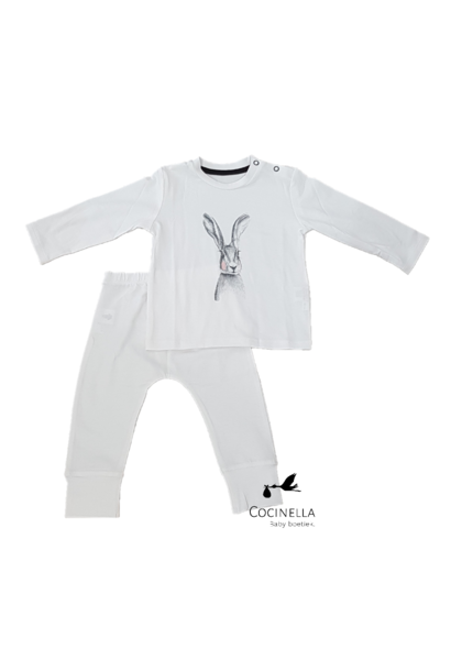 Pyjama Tencel Konijn 12-18M