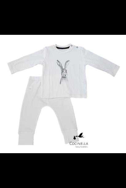 Pyjama Tencel Konijn 18M-2J