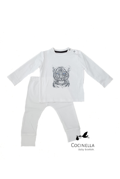 Pajamas Tencel Tiger 12-18M