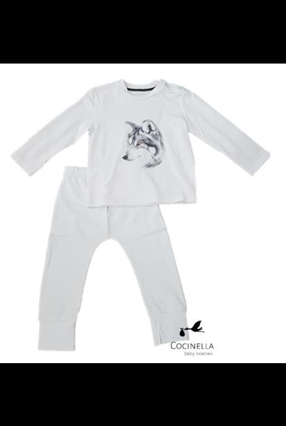 Pyjamas Tencel Wolf 3-6M